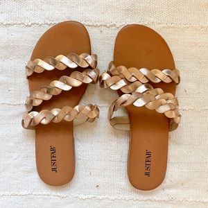 Just Fab Rose Gold Sandals